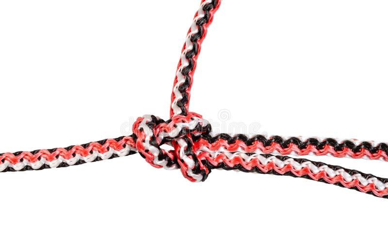Palstekknotenabschluß oben gebunden auf synthetischem Seil stockfotos