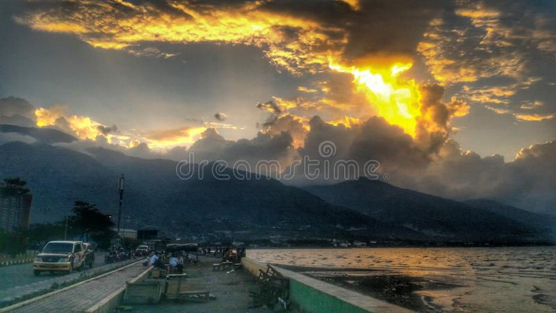 Palu, centre sulawesi indonesia royalty free stock photos