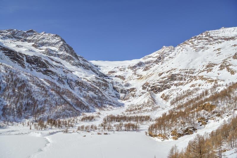 The Palu Glacier in southeastern flank of Piz Balu in Bernina range in Swiss Alps stock image