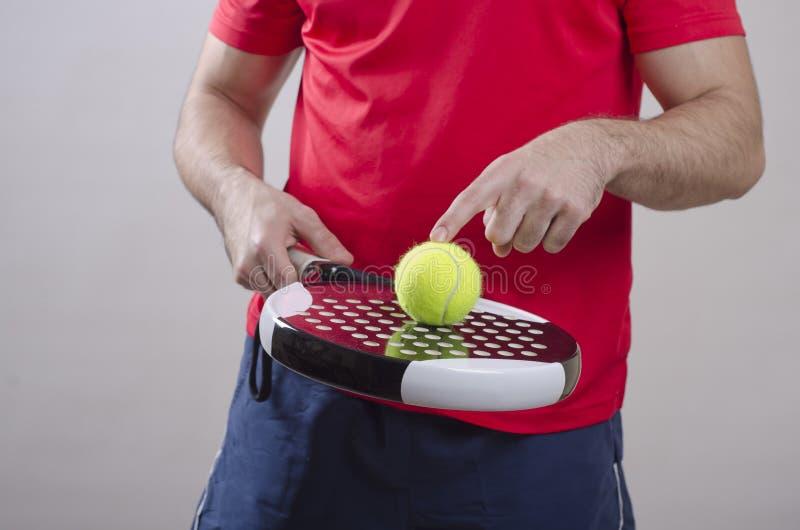 Palyer de tennis de palette photos libres de droits