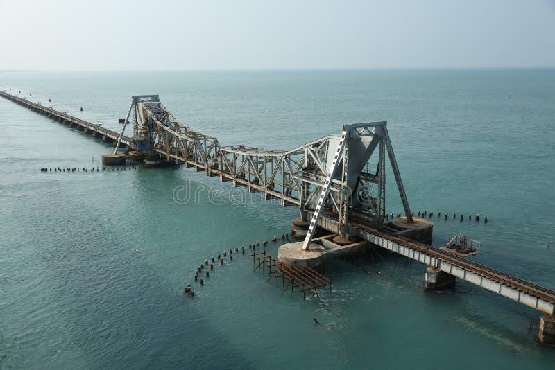 Pamban Sea Railway royalty free stock image
