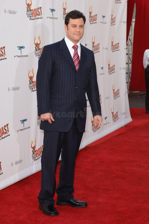 Pamela Anderson, Jimmy Kimmel zdjęcie stock