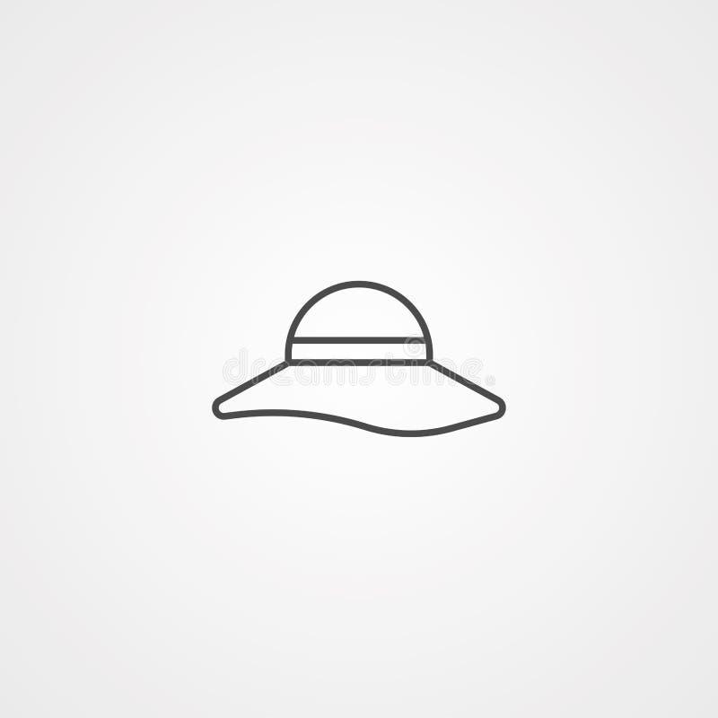 Pamela vector icon sign symbol. Pamela hat line icon, outline vector sign, linear style pictogram isolated on white. Symbol, logo illustration. Editable stroke stock illustration