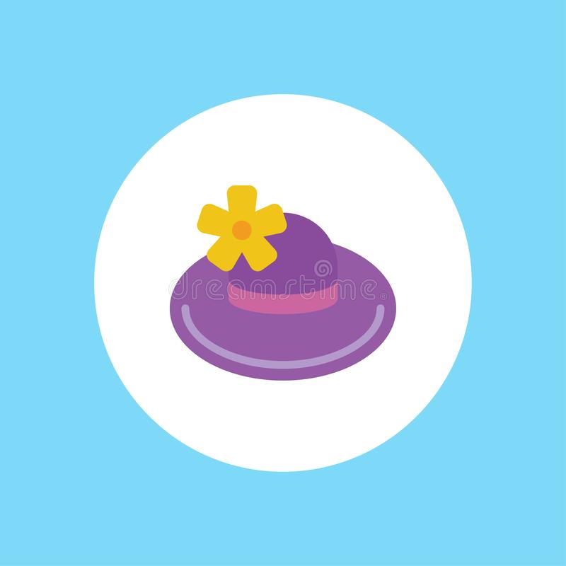 Pamela vector icon sign symbol. Pamela hat line icon, outline vector sign, linear style pictogram isolated on white. Symbol, logo illustration. Editable stroke royalty free illustration