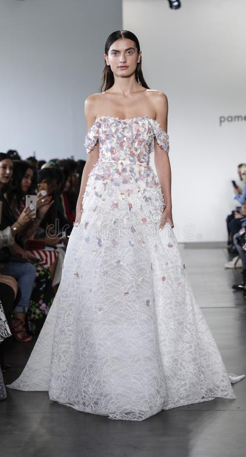 Pamella Roland SS 2020 royalty free stock images