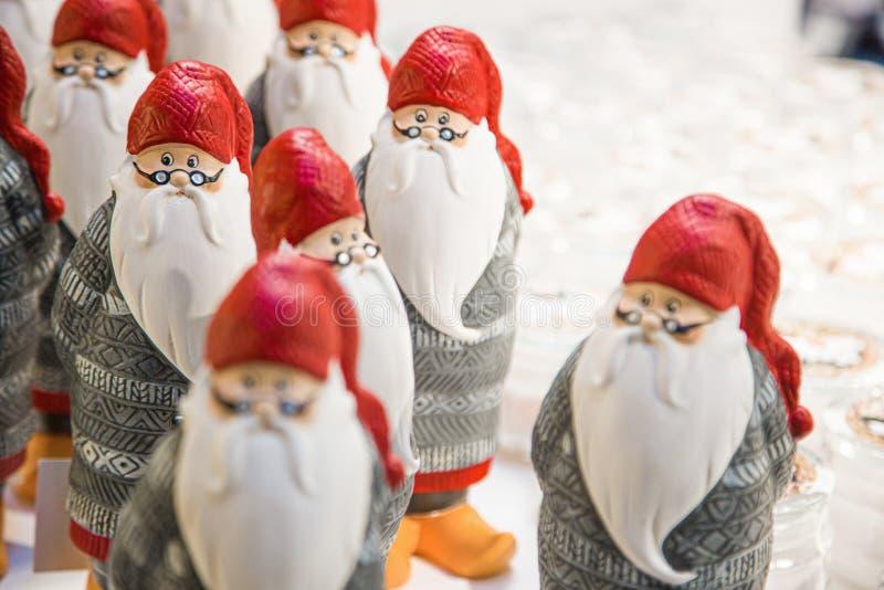 Pamiątka świąteczna, figurka Świętego Mikołaja zdjęcia stock