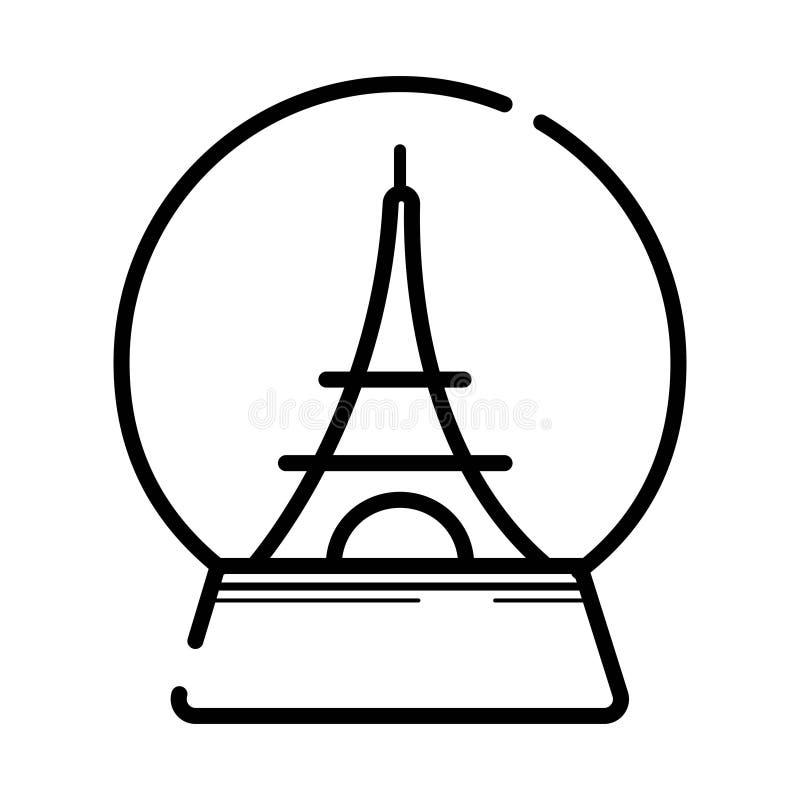 Pamiątka de Paryscy, Paryscy wspominki/wektorowa ikona wycieczka turysyczna Eiffel ilustracja wektor