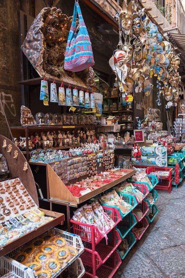 Pamiątka kram w Naples fotografia royalty free