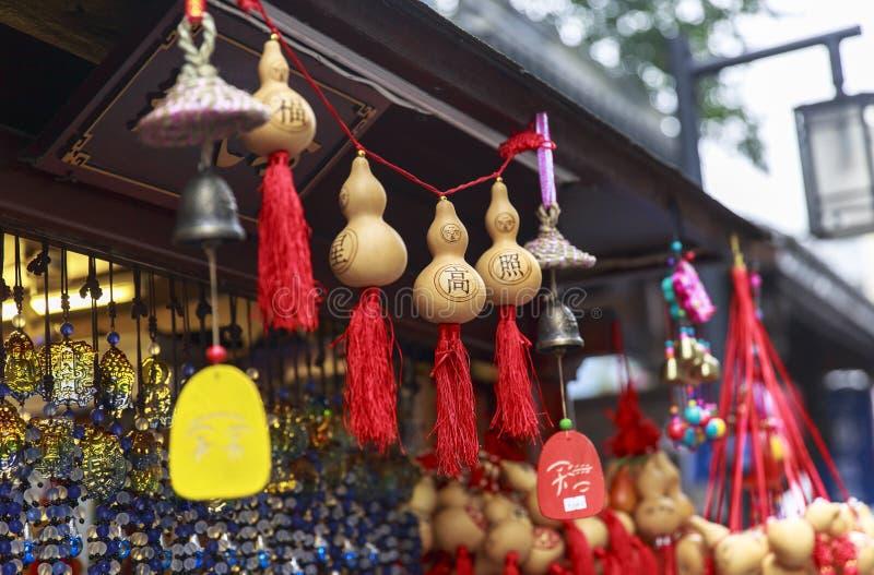 Pamiątka przy Chodzącą ulicą w Chengdu, Chiny obrazy royalty free