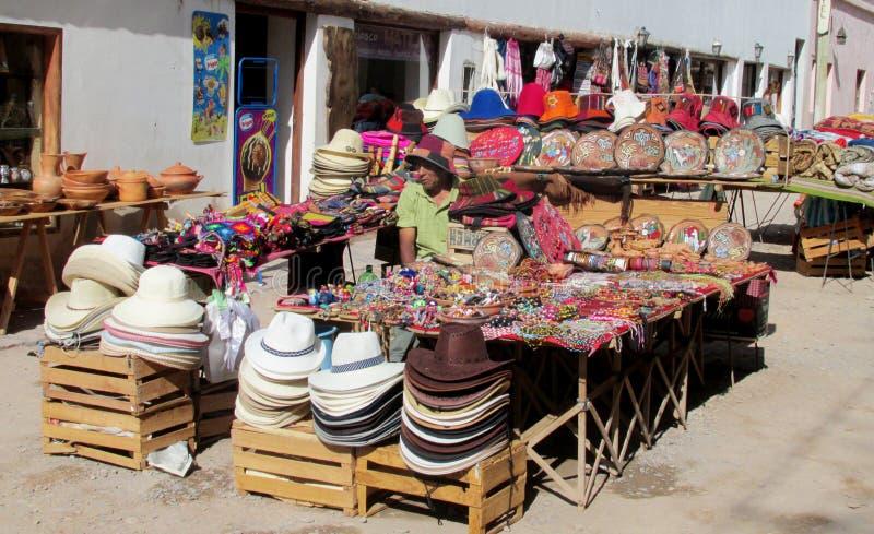 Pamiątka rynek w Ameryka Południowa zdjęcia stock