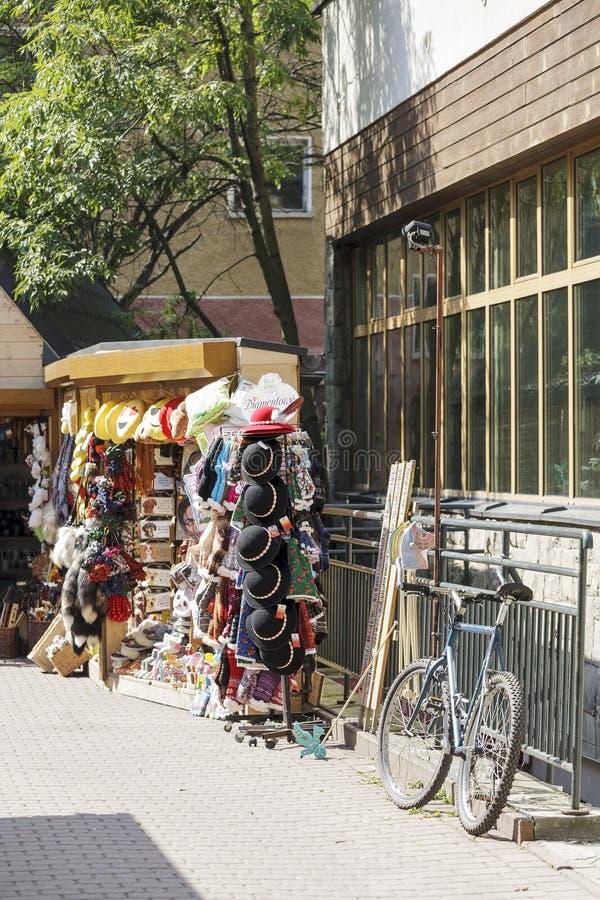 Pamiątka sklep w kącie zdjęcia stock