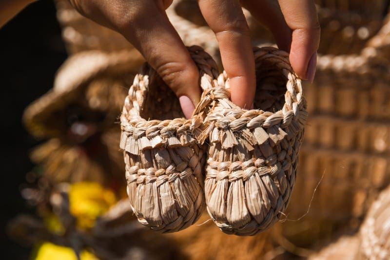 Pamiątkarscy dziecka ` s buty zdjęcia stock