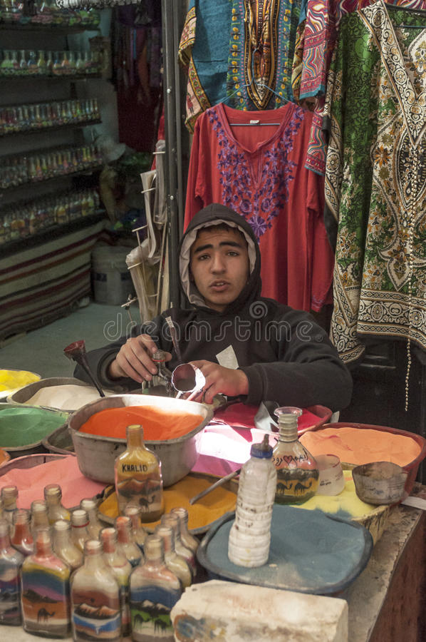 Pamiątkarscy sklepy w Jordania zdjęcie stock