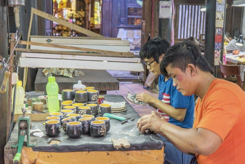 Pamiątkarska fabryka persons z kalectwami zdjęcie royalty free