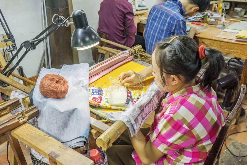 Pamiątkarska fabryka persons z kalectwami zdjęcia stock
