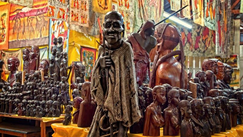 Pamiątkarski sklep, Kenja, Afryka zdjęcie stock