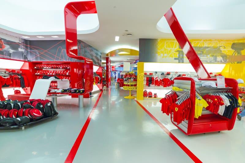 Pamiątkarski sklep w Ferrari świacie zdjęcie stock