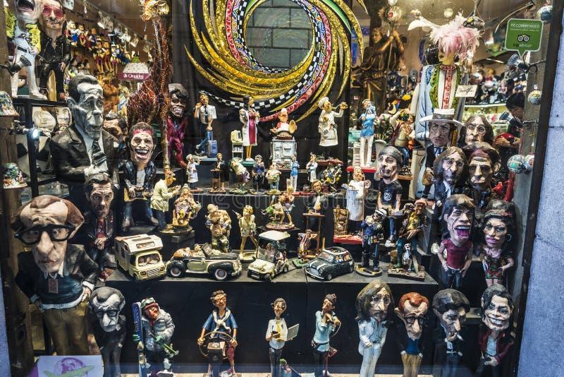Pamiątkarski sklep w Ghotic ćwiartce Barcelona, Catalonia, zdrój zdjęcia stock
