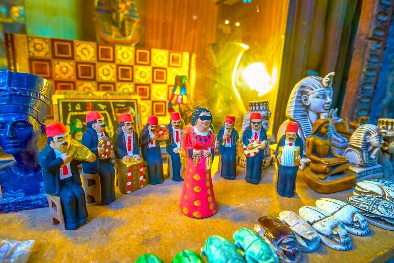 Pamiątki od Egipt, Kair rynek obrazy stock