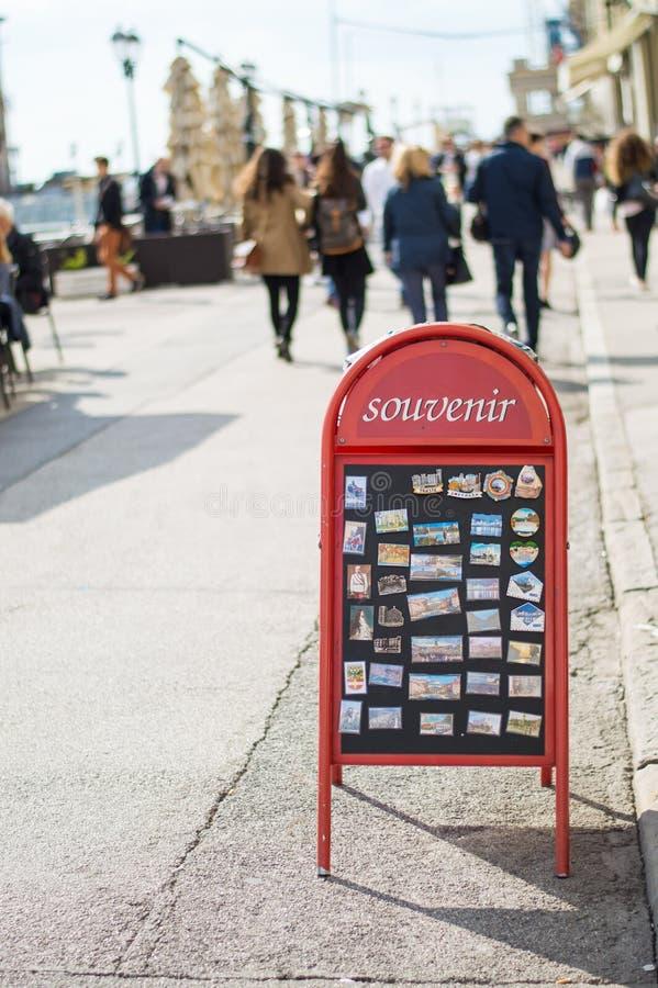 Pamiątki, turystów magnesy zdjęcia stock