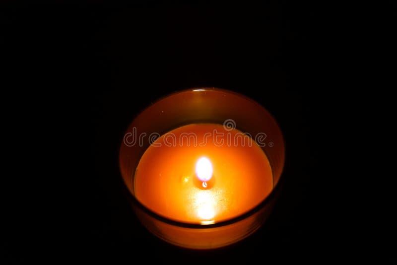 Pamiątkowa świeczka w szkle fotografia stock