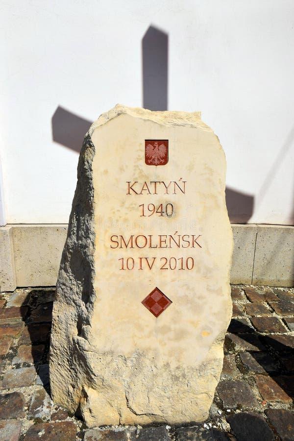 Pamiątkowa Katyn masakra w Wiedeń, Austria zdjęcie stock