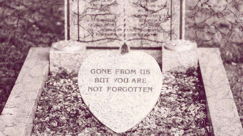 Pamiątkowa plakieta na grób zdjęcia stock