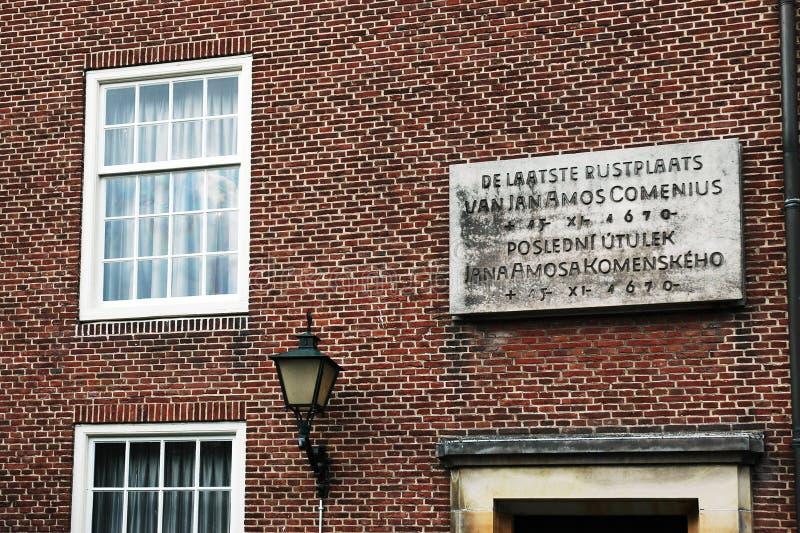 Pamiątkowa plakieta nad wejście muzeum w Naarden obraz stock