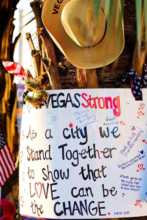 Pamiątkowa wiadomość Las Vegas Mknące ofiary fotografia stock