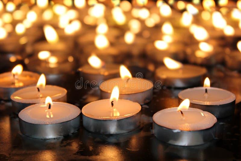 Pamiątkowe świeczki fotografia royalty free