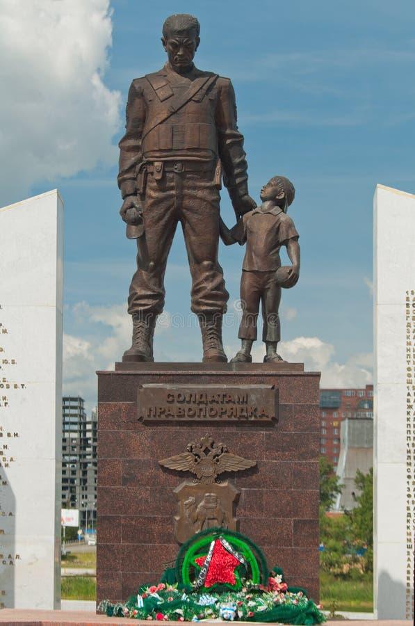 Pamiątkowi żołnierze prawo i porządek chelyabinsk zdjęcie stock