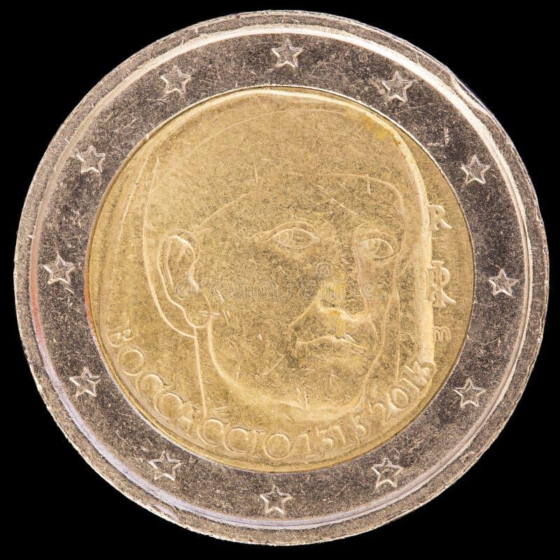Pamiątkowy dwa euro menniczego wypuszczony Włochy w 2013 i commemor zdjęcie stock