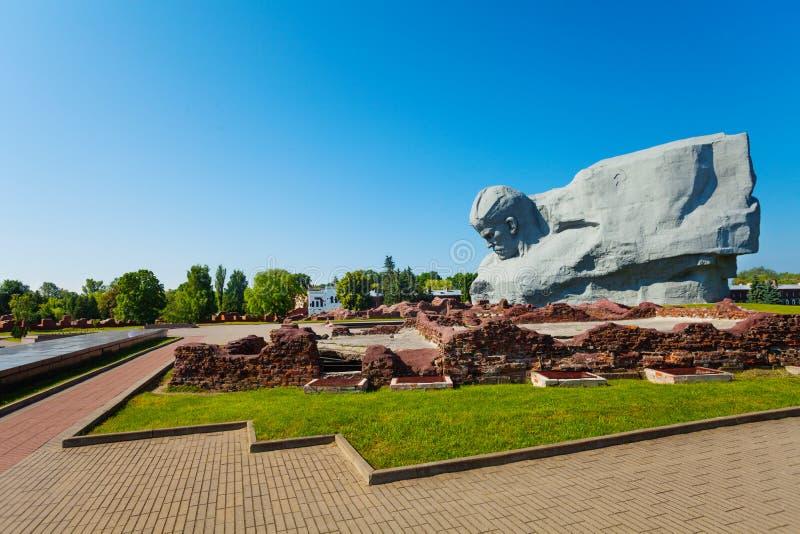 Pamiątkowy forteca i park w Brest fortecy fotografia royalty free