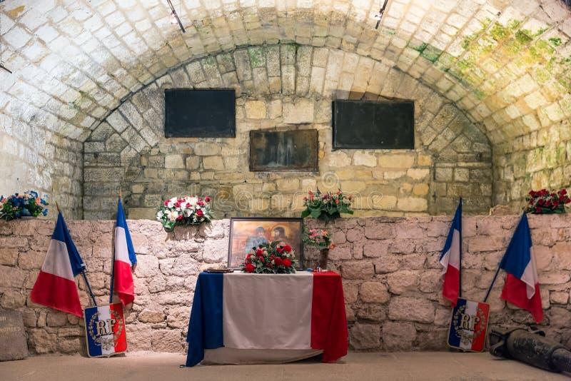 Pamiątkowy izbowy fort Douaumont Pole bitwy Pierwszy wojna światowa Jeden obraz stock