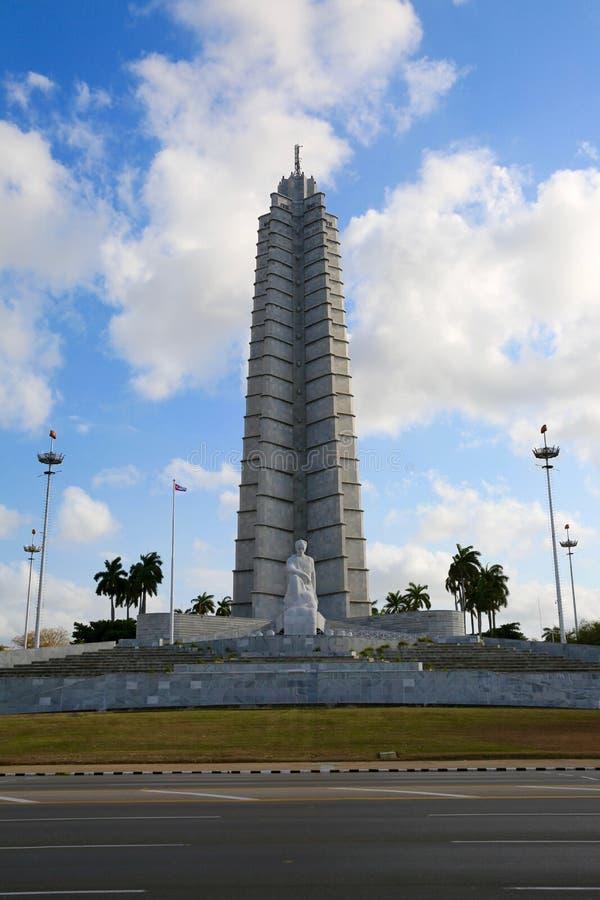 Pamiątkowy Jose Marti, Hawański, Kuba fotografia royalty free