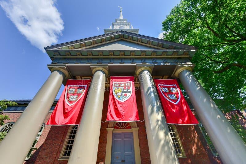 Pamiątkowy kościół - uniwersytet harwarda obraz stock
