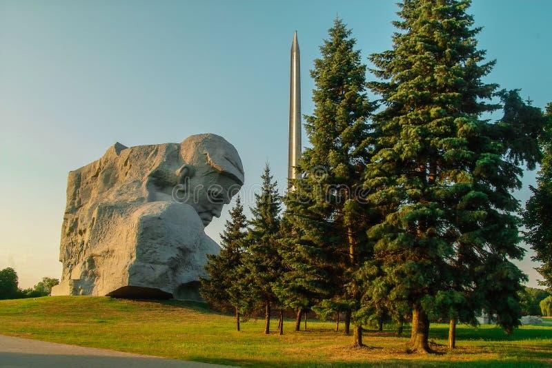Pamiątkowy kompleks Brest forteca w Białoruś zdjęcia royalty free