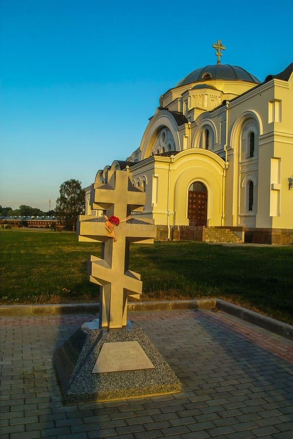 Pamiątkowy kompleks Brest forteca w Białoruś obrazy royalty free