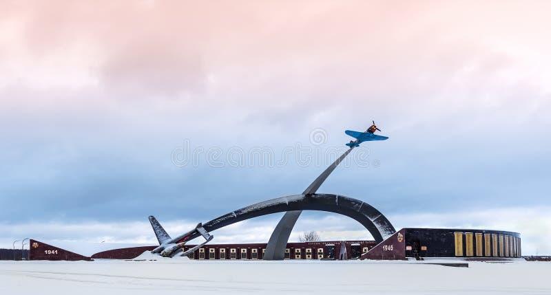 Pamiątkowy kompleks obrońcy kraju ojczystego niebo zdjęcia royalty free
