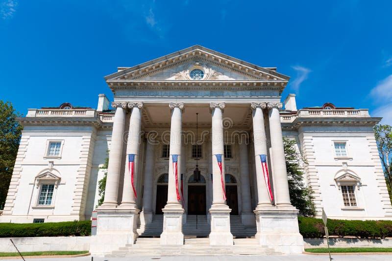 Pamiątkowy Kontynentalny Hall w washington dc obrazy royalty free