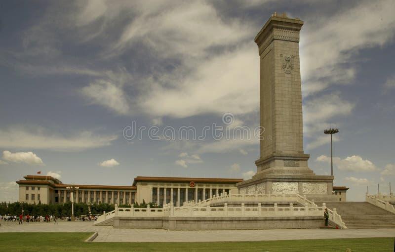 pamiątkowy plac Tiananmen obrazy royalty free