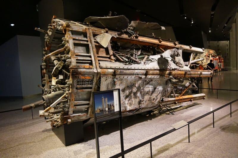 9/11 Pamiątkowych muzeów, punkt zerowy wybuchu, WTC fotografia royalty free