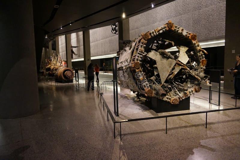 9/11 Pamiątkowych muzeów, punkt zerowy wybuchu, WTC obraz stock