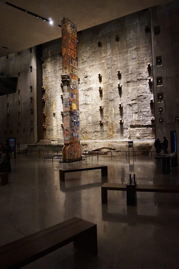 9/11 Pamiątkowych muzeów, punkt zerowy wybuchu, WTC obrazy royalty free