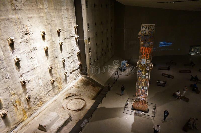 9/11 Pamiątkowych muzeów, punkt zerowy wybuchu, WTC obrazy stock