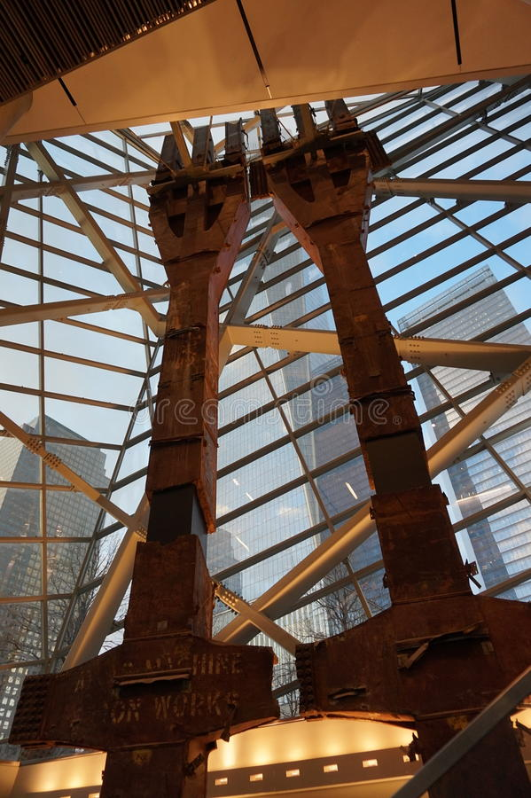 9/11 Pamiątkowych muzeów, punkt zerowy wybuchu, WTC fotografia stock