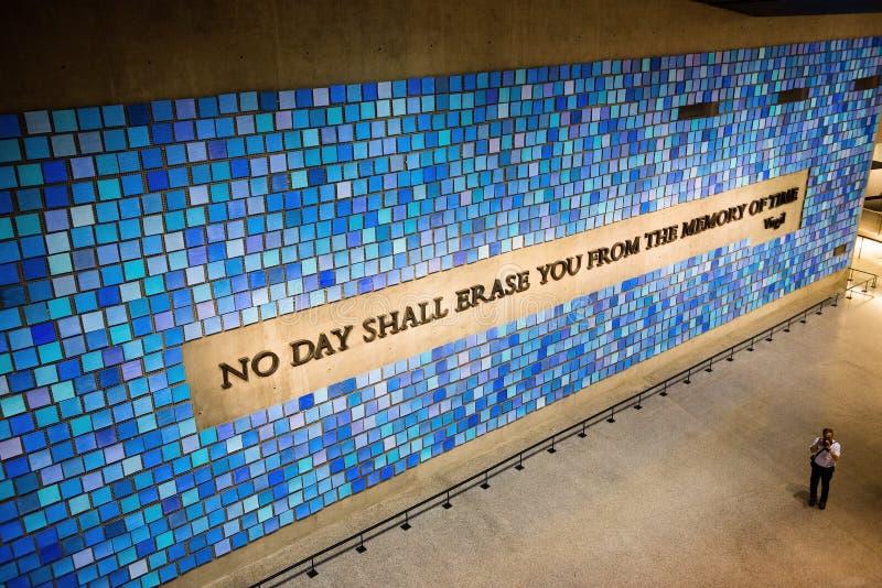 9/11 Pamiątkowych Muzealnych Nowy Jork obrazy royalty free