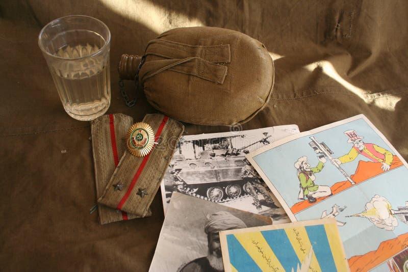 Pamięć Afgańska ziemia i 40 sowieci wojsko fotografia royalty free