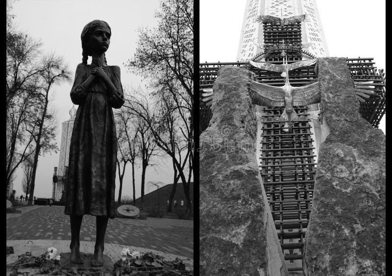 Pamięć Holodomor, Kijowski Ukraina obraz stock