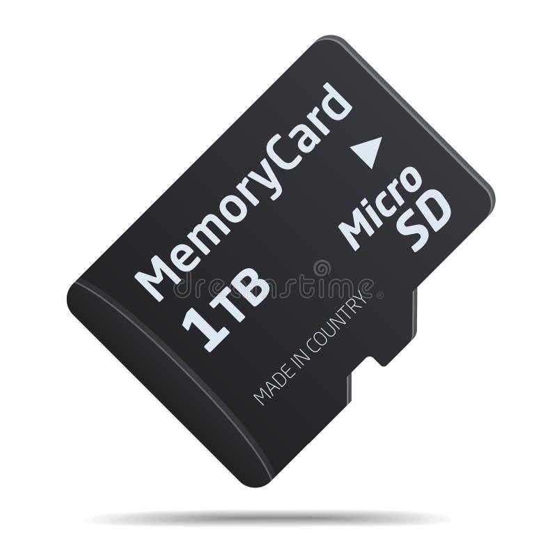 pamięć karciany mikro sd ilustracji